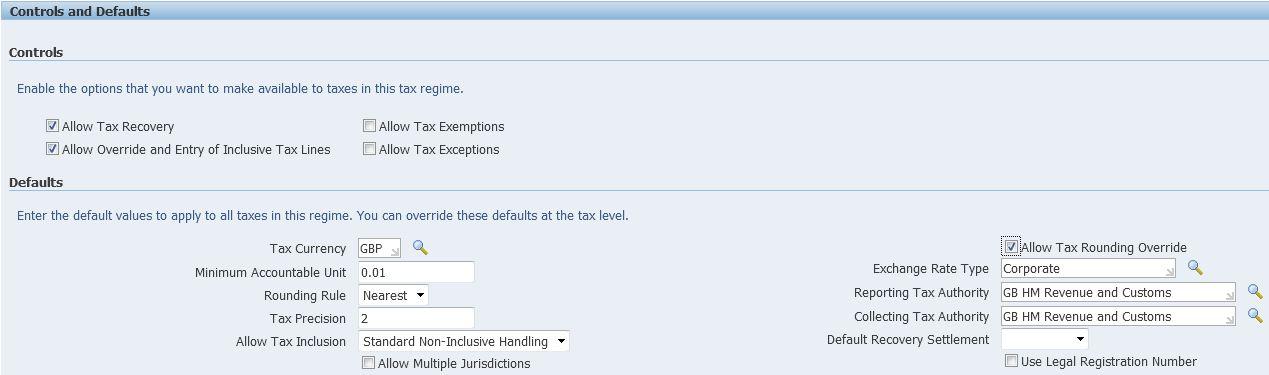 3 – Create Tax Regime b