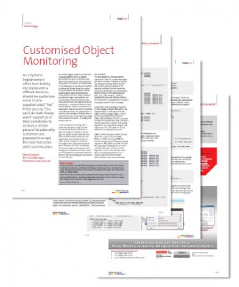 Customised Object Monitoring by Barry Goodsell