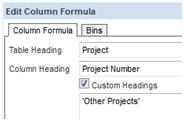 Column Formula