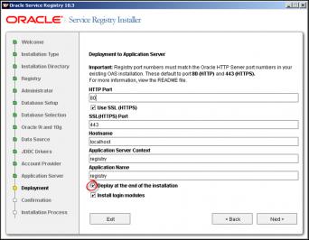 Service Registry Installer