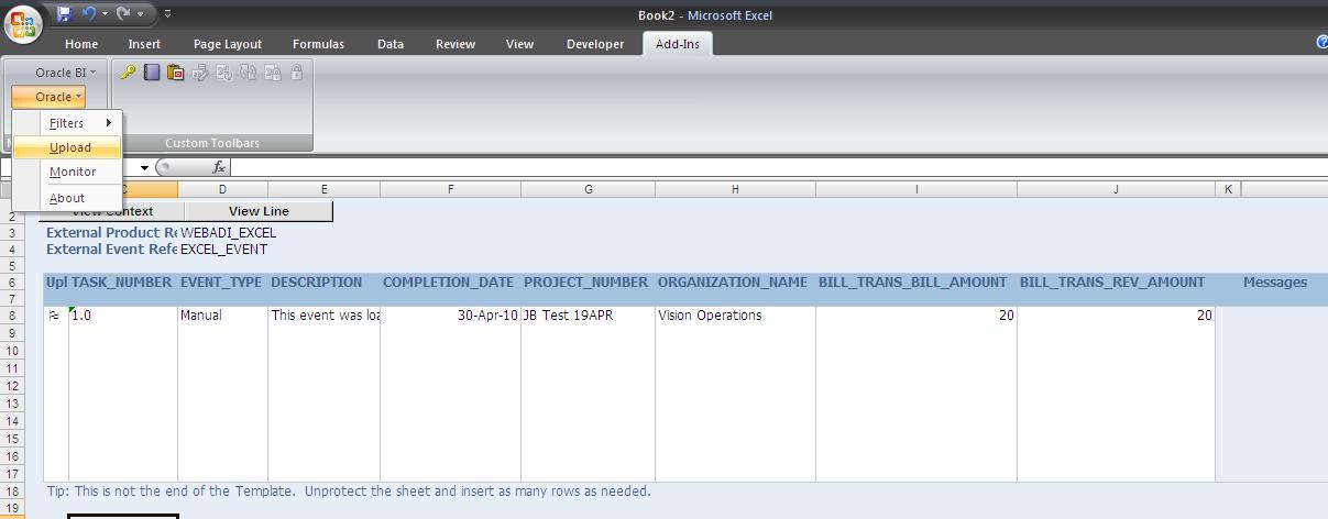 Desktop Integration Framework for Web ADI in R12 1 2