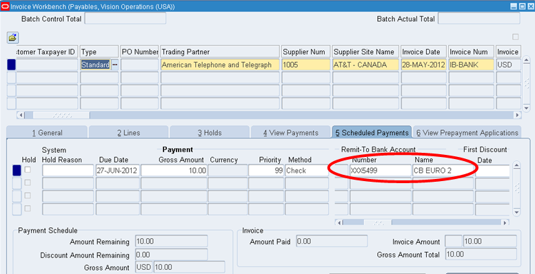 R12: End dating supplier bank accounts and Open AP invoices